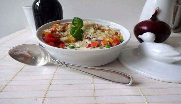 Vegane Lasagne mit Macadamia-Topping