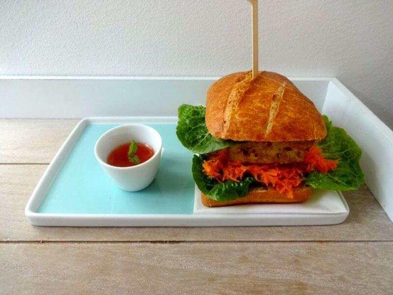Veganer Asia-Burger