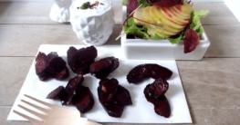 Gebackene Rote Beete mit Apfel-Carpaccio
