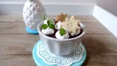 Glühwein Gelée mit Vanille-Rahm